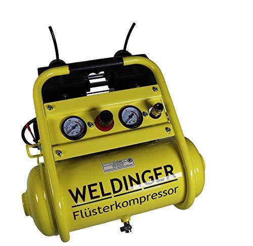 WELDINGER Flüsterkompressor FK 120 compact 980 W Luftabgabe 120 l...