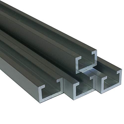 Alu C-Profil silber eloxiert EV1 11 x 17 x 4,5 x 2 mm für M8 Schraube...