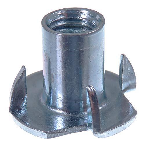 SECCARO Einschlagmutter M8, 15 mm Länge, Stahl verzinkt, 20 Stück
