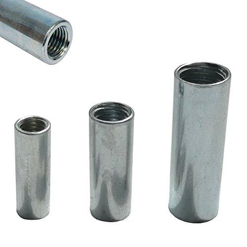 12x Stahl Gewindemuffen galvanisch verzinkt - Stabiler Gewindeeinsatz...