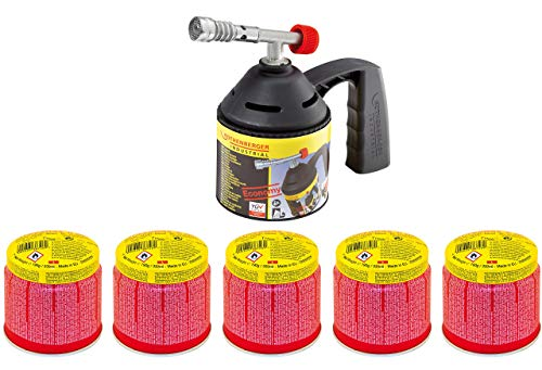ROTHENBERGER Industrial RoFlame Economy Löt Lampen Set inkl. 5 Gas...