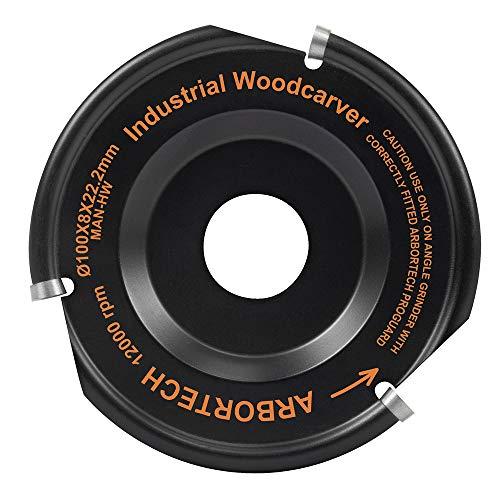 ARBORTECH Industrial Woodcarver | Ø 100 mm Hartmetall Frässcheibe...
