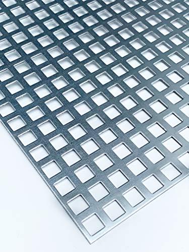 Lochblech Verzinkt QG10-15 Stahl Verzink 2,0 mm dick Zuschnitt...