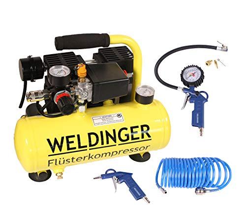 Aktionsset WELDINGER Flüster Kompressor FK 40 compact + Druckluftset...