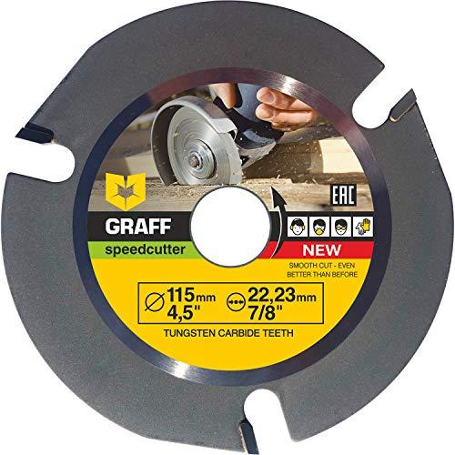 GRAFF SPEEDCUTTER Holz Sägeblatt Für Winkelschleifer 115 mm - Flex...