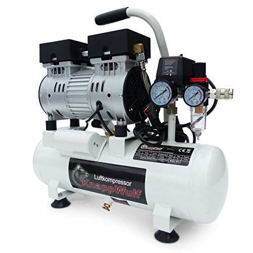 KnappWulf Flüster Kompressor Druckluftkompressor KW1008 Airbrush 69dB...