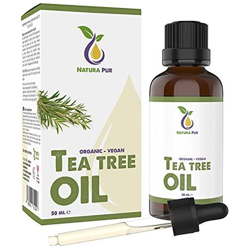 Teebaumöl BIO 50ml mit Pipette - 100% naturreines ätherisches Öl...