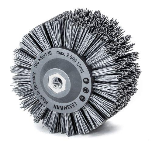 Lessmann Rundbürste gestanzt, grau ø 140 mm (18x 7 Reihen, Aufnahme:...