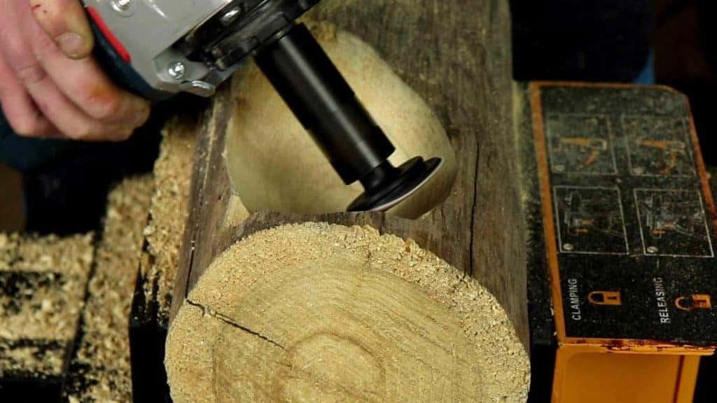 Holzschale schleifen Arbortech