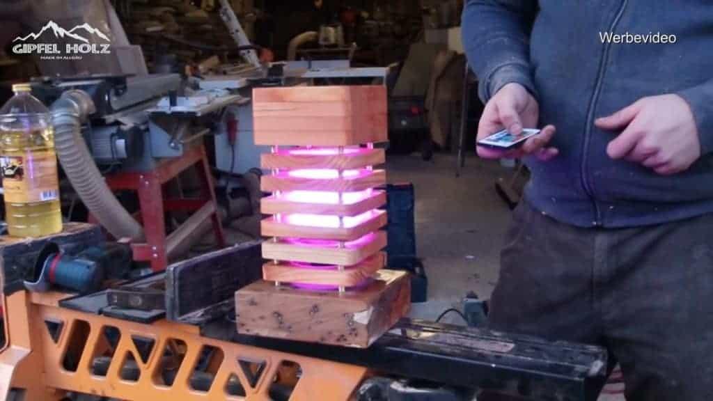 Holzlampe bauen