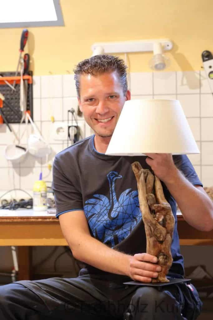 Treibholzlampe bauen