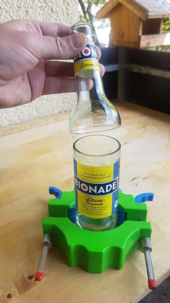 Flasche schneiden