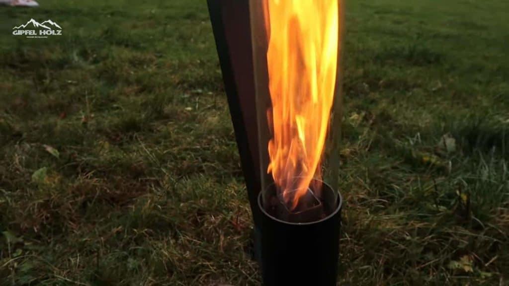 Flamme im Glas