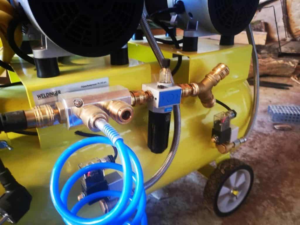 Kompressor Verteiler bauen