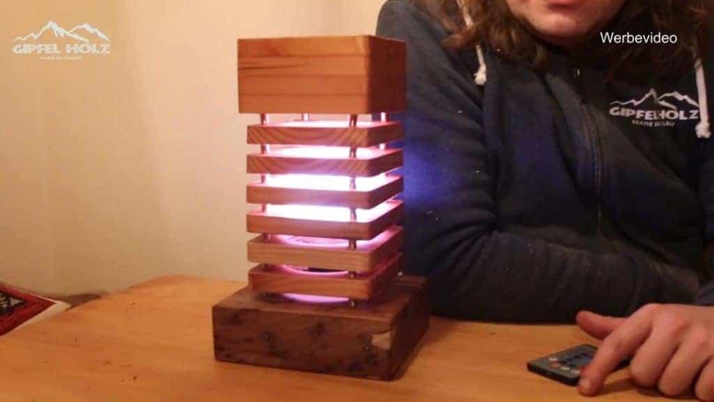 Lampe aus Bretter