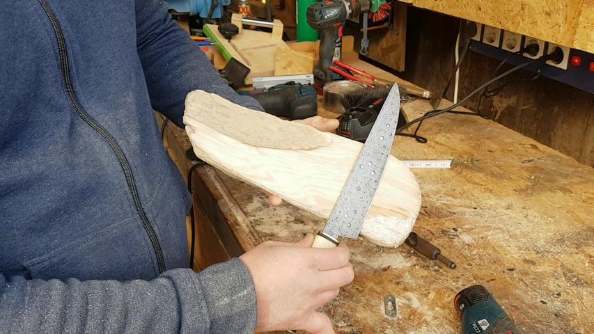 Holzleiste Messer Magnete