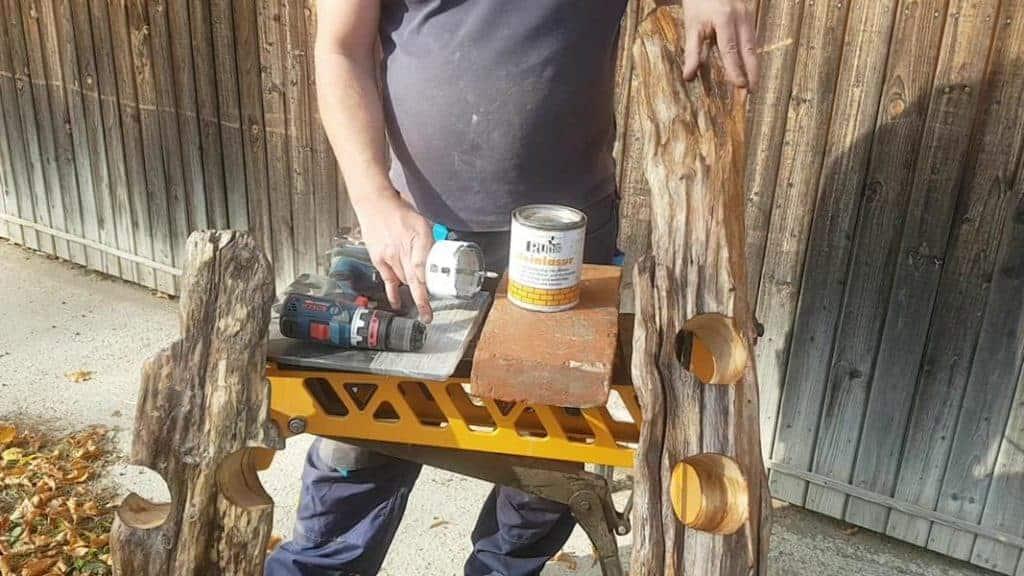 Bauanleitung Flaschenhalter