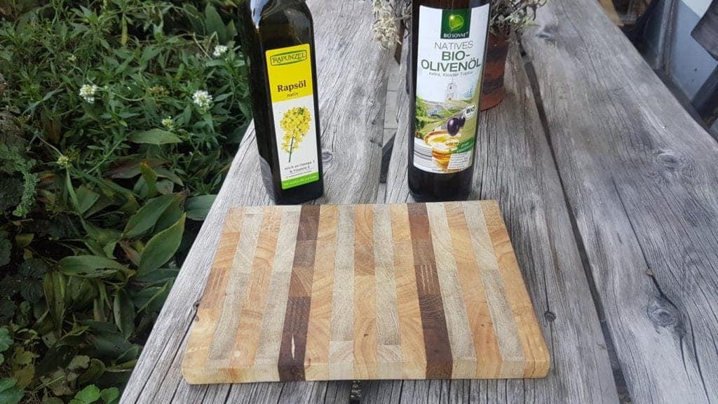 Holz mit Speiseöl behandeln