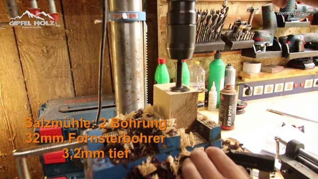 Gewürzmühle mit Bohrmaschine bauen