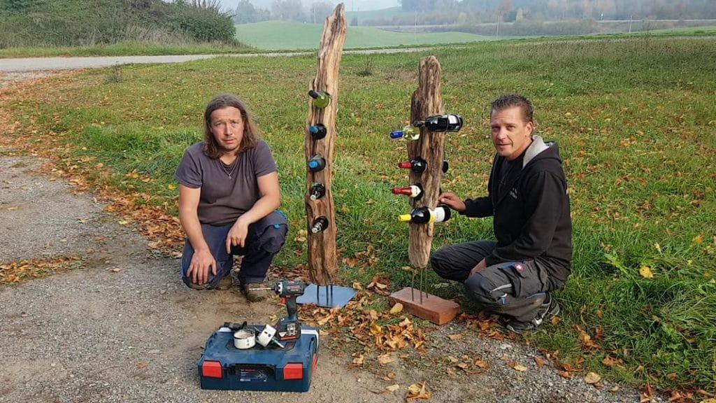 Weinständer Treibholz