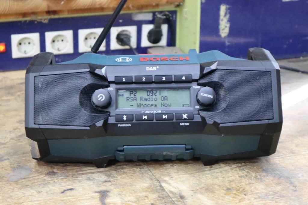 Baustellenradio mit DAB